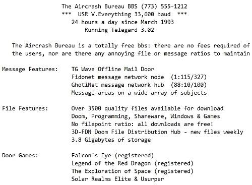 The Aircrash Bureau BBS